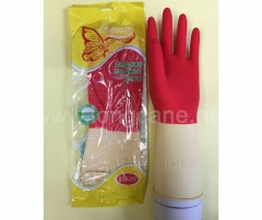 "12"" Bi-Color Household Latex Gloves"