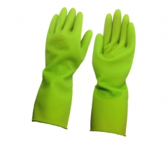 "12"" Green Enviro Household Rubber Gloves"