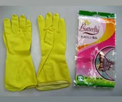 "12"" Flocklined Household Rubber Gloves"