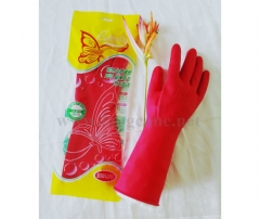 "12"" Red Rose Household Rubber Gloves"