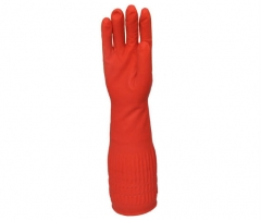 "17"" Long Cuff Household Rubber Gloves"