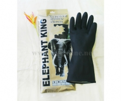 Double Dipped Black Industrial Rubber Gloves