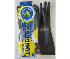 Extra Long Industrial Black Rubber Gloves