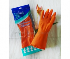 Orange Color Rubber Gloves