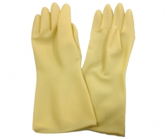 """15"""" Unlined Household Rubber Gloves (Natural Color)"""