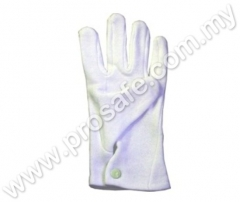 Button Cotton Gloves